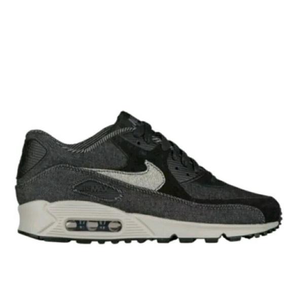 b6c47435e79 Nike Air Max 90 SE Black Denim Sz 6.5